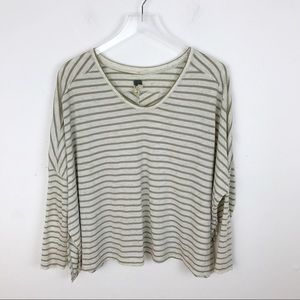 We the Free People Striped Oversized Top Blouse Sm
